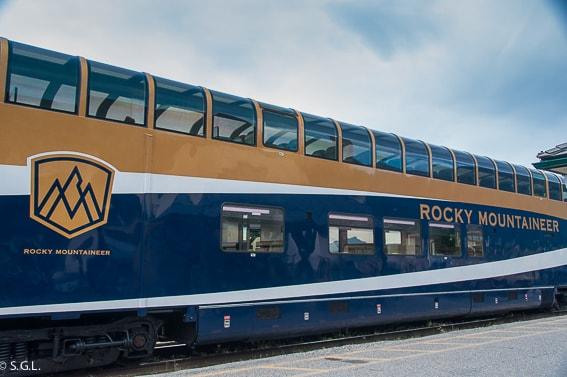 Vagon del tren Rocky Mountaineer