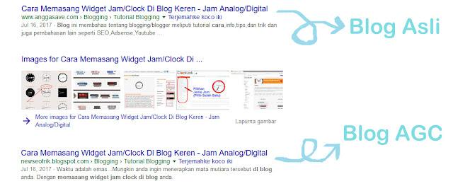 Mengecek duplikat konten dengan mudah jika sudah ketemu duplikat konten langsung saja lapor ke google DMCA.