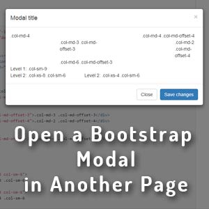 How to open a bootstrap modal from another page -HindiMeJankari