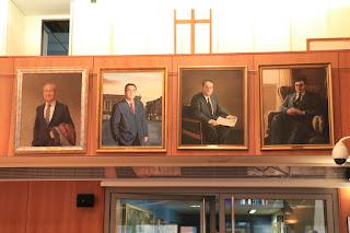Retrato de cuatro de los alcaldes de Barakaldo de la democracia
