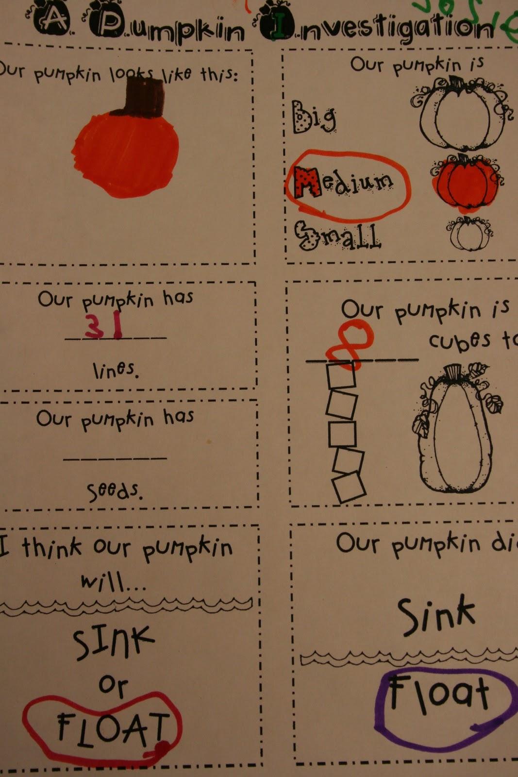 Mrs Lee S Kindergarten Pumpkins