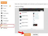 Cara Mengganti Template Blog dari Blogger dan Pilihan Sendiri