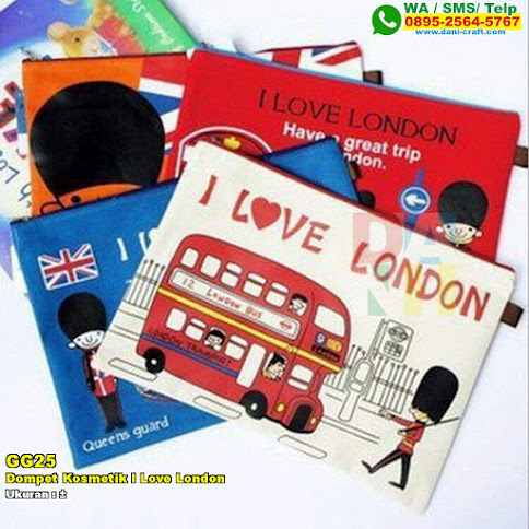 Dompet Kosmetik I Love London