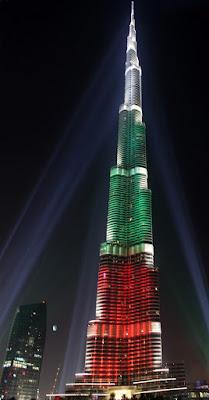 Dubai celebra su Día Nacional con luz y color