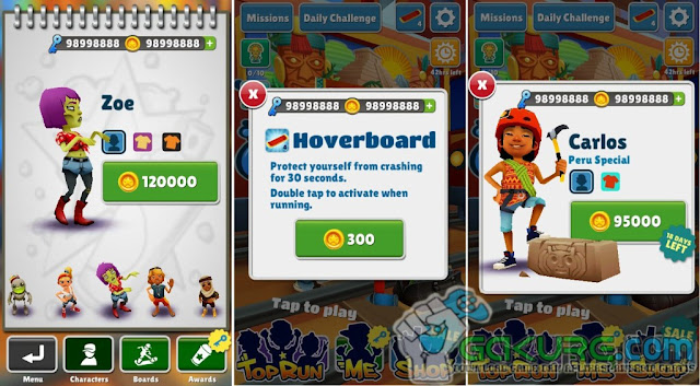 Subway Surfers MOD APK Terbaru ( Unlimited Coin and Key ) Terbaru 2016