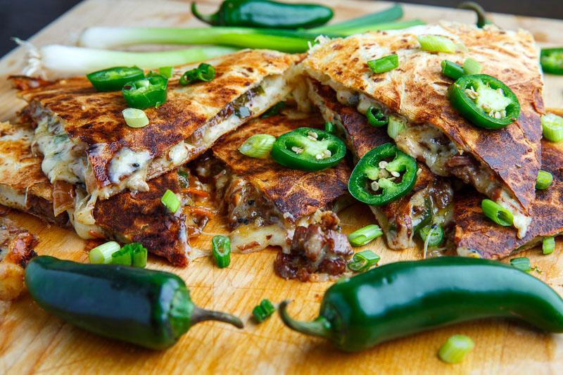 Mongolian Beef Quesadillas