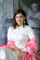 Mannara Chopra in Silky White Salwar Suit with Pink Chunni Latest Exclusive Pics March 2017 ~  009.JPG