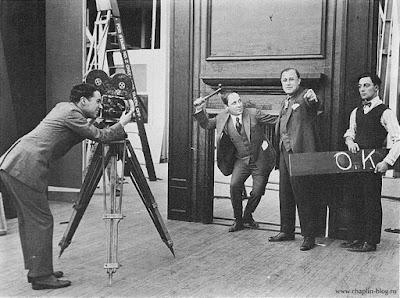 Чарли Чаплин и Бастер Китон на студии Балбоа (ок. 1918 г.) 2