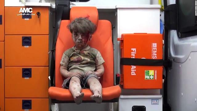 Las caras de la guerra y su infancia: