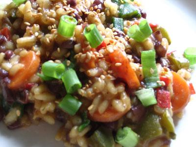 Spicy Azuki Bean Risotto