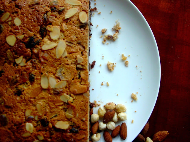 Brandied Almond Fruit cake