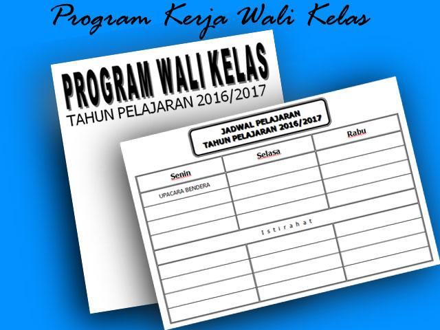 Contoh Program kerja Guru/Wali Kelas SD, SMP, SMA Download , Versi Words
