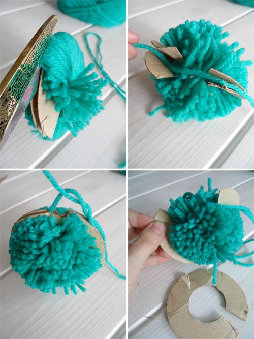 Lalole blog c mo hacer pompones de lana - Como hacer pompones con lana ...