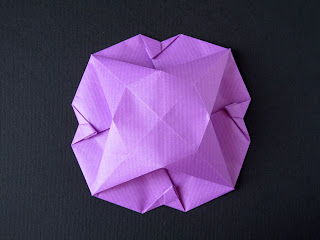 Origami Scatola a fiore, variante 1, retro - Flower Box, variant 1, back, Francesco Guarnieri