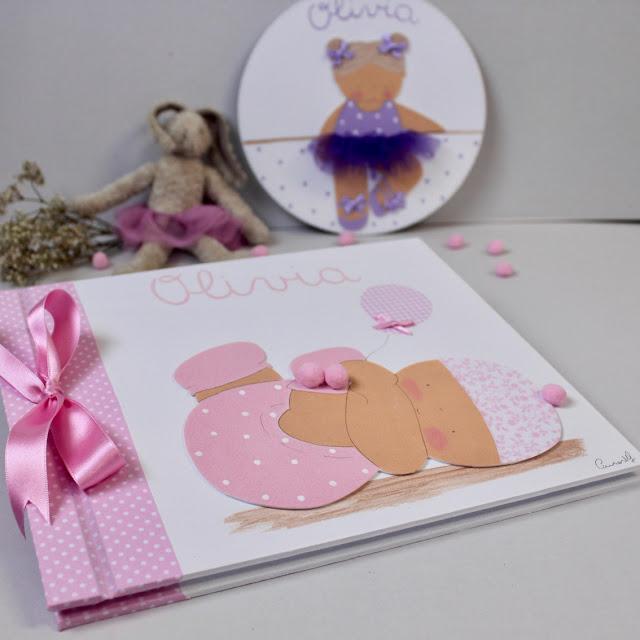 Álbumes de fotos infantiles pintados a mano y personalizados