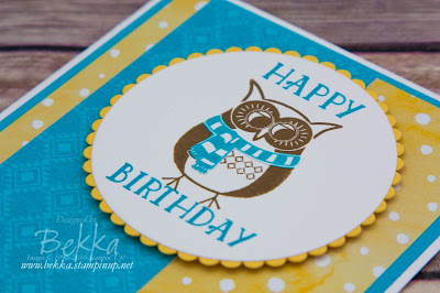 Cozy Critters Owl Birthday Card made with Stampin' Up! UK Supplies which you can buy here