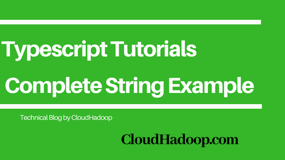Learn Typescript String tutorials