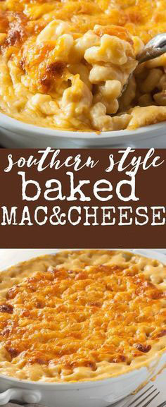 Southern Style Baked Mac And Cheese