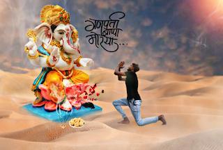 Ganesh Chaturthi Special Editing In PicsArt | Ganpati Ba-pa Moriya | PicsArt Editing Tutorial