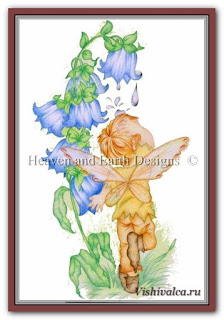 Cross stitch chart «KAM 105 Bluebell Pixie - artwork by Karen Middleton»