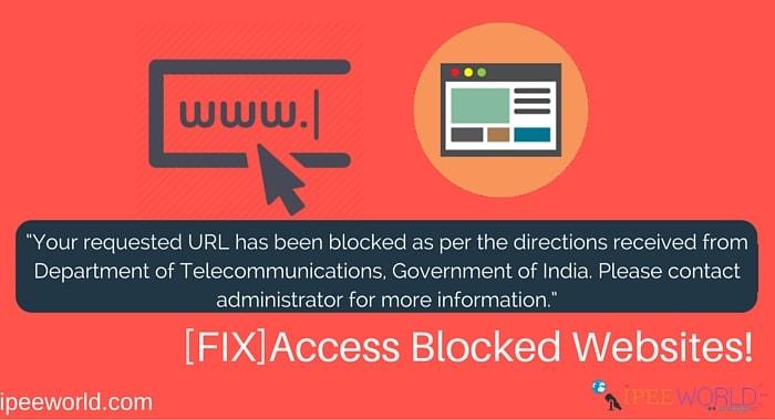 Access blocked website fix