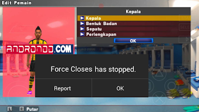 Cara Mengatasi Force Close Di PES Jogress 2017 With PPSSPP