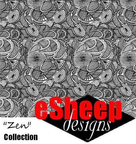 Untangle my Zen (Micro) fabric by eSheep Designs