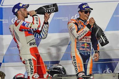 Finis Podium Tiga, Marquez Akui Salah Pilih Ban
