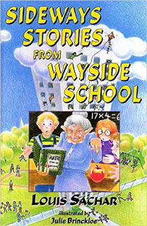 http://www.amazon.com/Sideways-Stories-Wayside-School-Sachar/dp/0688160867/ref=sr_1_3?ie=UTF8&qid=1455250850&sr=8-3&keywords=sideways+stories+from+wayside+school