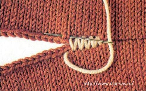 Как сделать ровный шов на вязаном изделии.