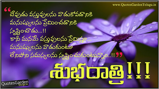 Telugu Good Night Quotes with lessons learned in life