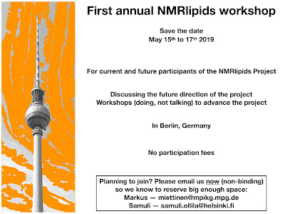 NMRlipids workshop 2019 May 15th to 17th
