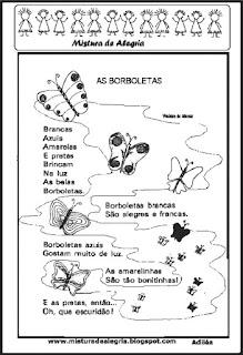 Poesia as borboletas e atividades