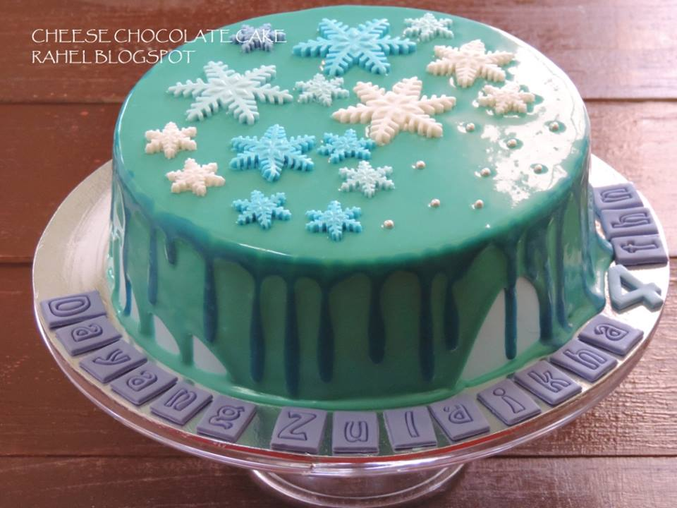 Cheese Chocolate Cake Tema Frozen