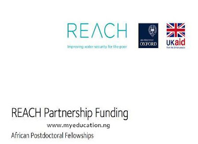 REACH Programme: Postdoctoral African Fellowship in Groundwater Management