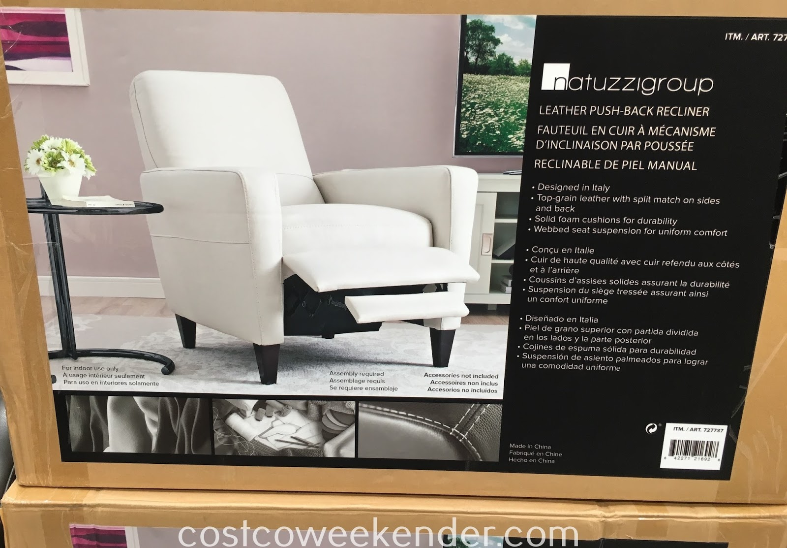 Natuzzi Group Leather Push-back Recliner Chair - Not your father's old-fashioned recliner