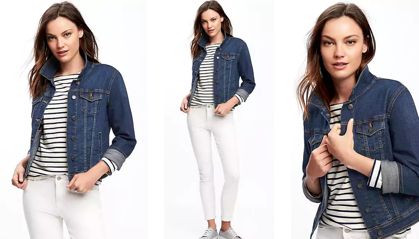 Old Navy Denim Jacket in Dark Authentic $15 (reg $37)