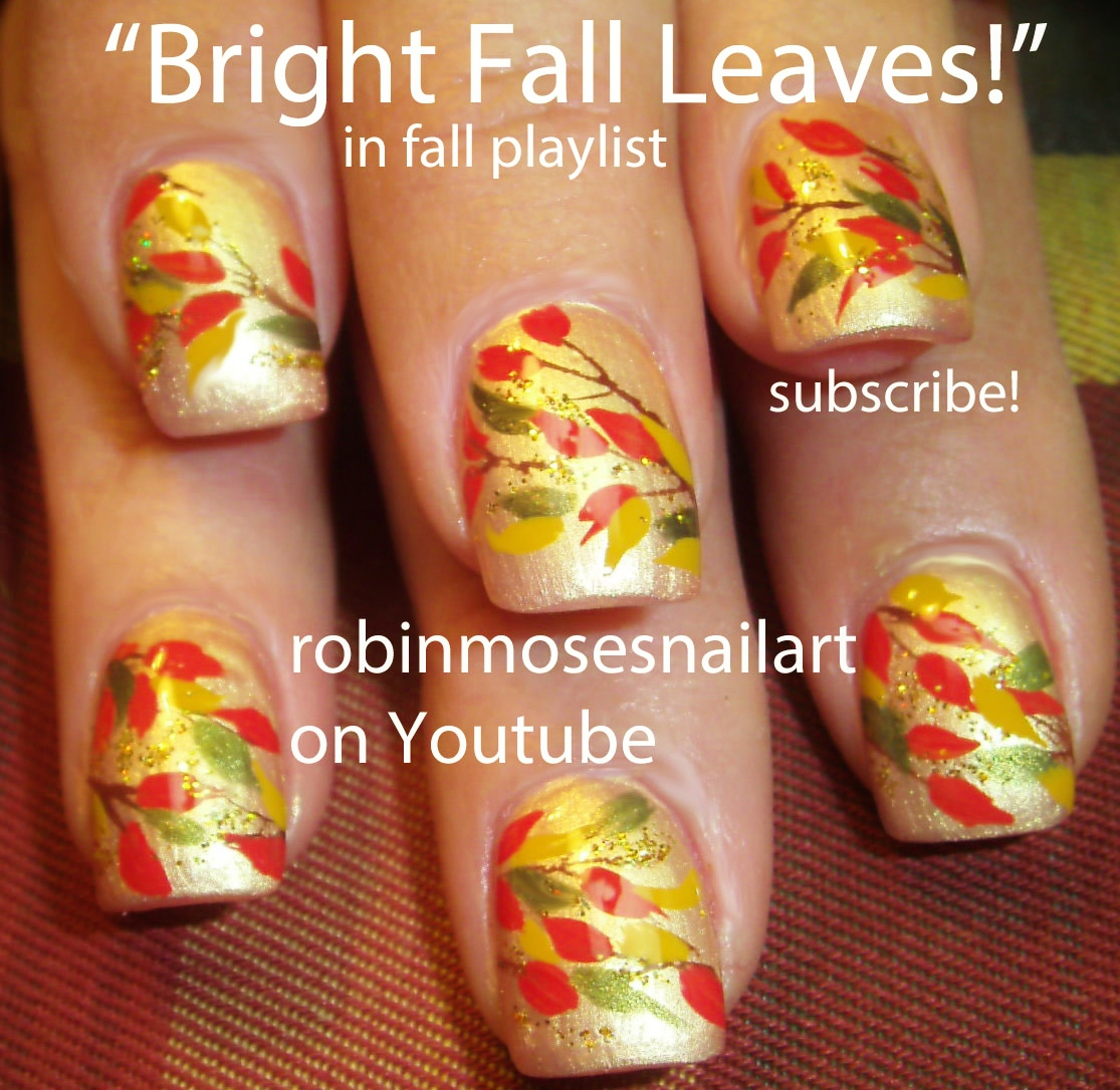 Robin Moses Nail Art: Nail art: Cute Fall Pumpkins