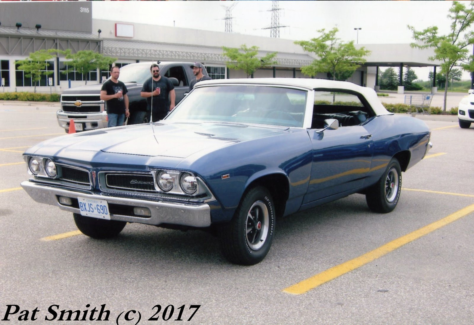 Canadian Classic 1969 Beaumont Convertible Phscollectorcarworld 1999 Mercury Cougar Radio Wiring Diagram This Medium Metallic Blue Example Rides On Rally Ii Wheels And Has A White Top