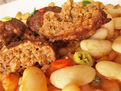 Zapečeni bijeli grah s polpetama / Roasted white beans with meatballs