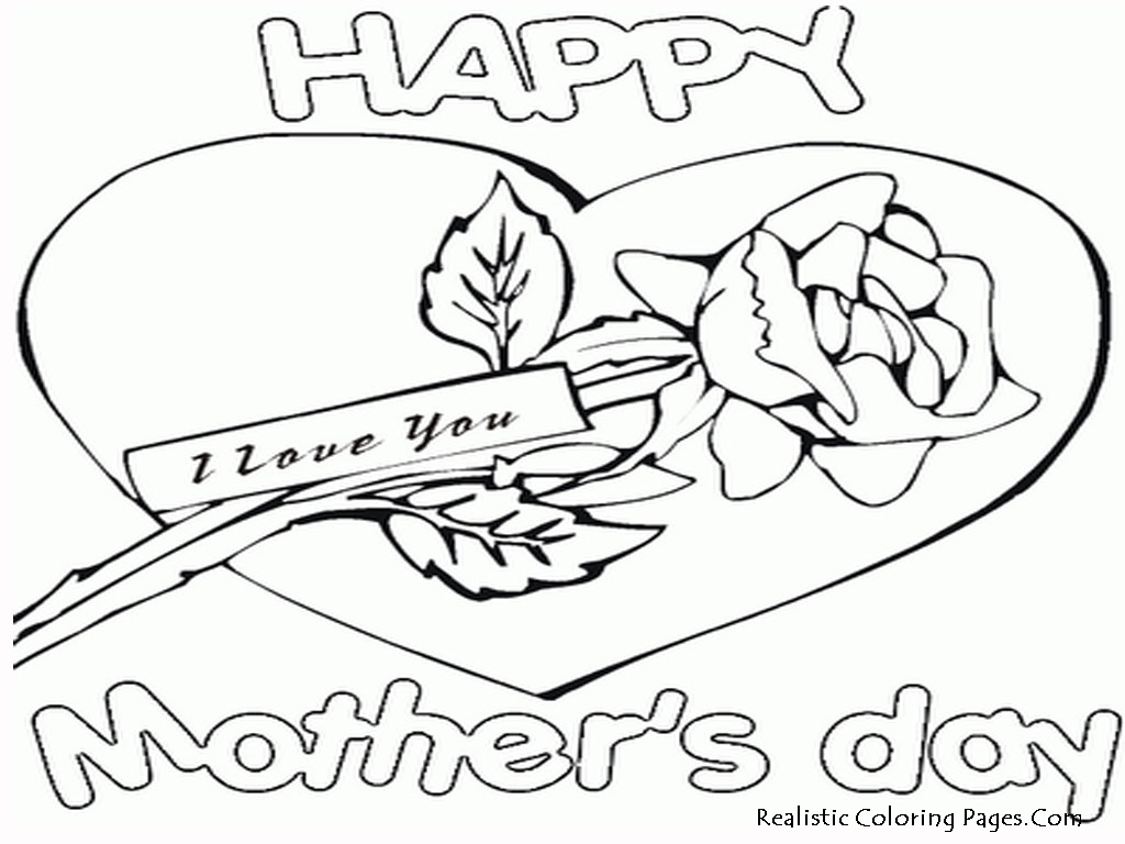 24 Cool Free Printable Mothers Day Coloring Pages