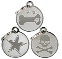 cheap stainless steel dog tags, come in sizes and designs. can be used for cats too