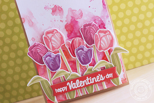 Sunny Studio Stamps: Timeless Tulips Valentine's Day Card by Eloise Blue.