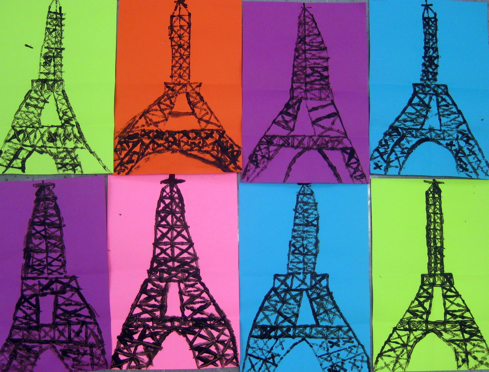 Cassie Stephens Eiffel Tower Art Lesson