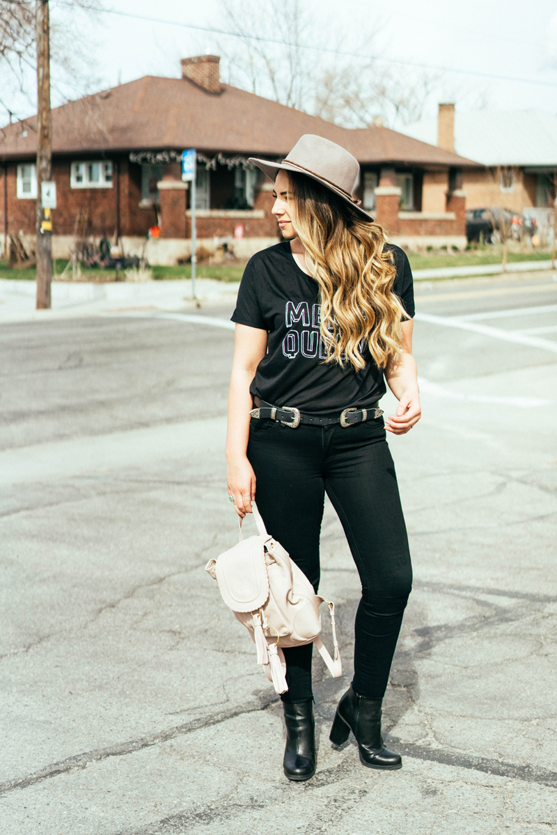 spring outfit, heeled booties, beauty blogger