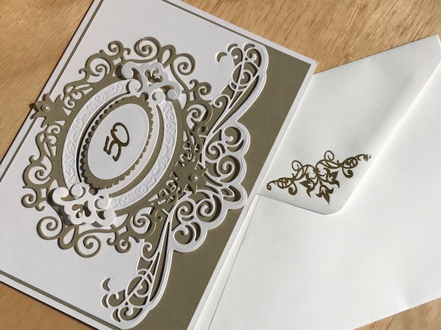 Handmade by kathie k: 50th wedding anniversary card tutorial
