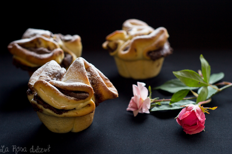 Rosas rellenas de chocolate | sin lactosa