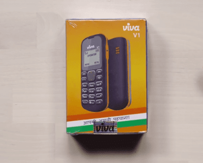 unboxing the Viva V1, 5 DOLLAR phone made in India