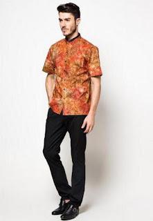 Baju batik slimfit untuk kerja