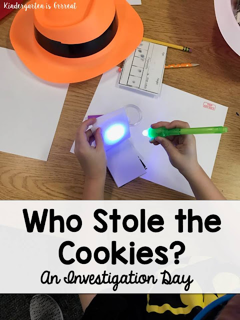 Create your own investigation day with your students - have them practice important letter and number skills all while having fun in the classroom.  This was a day my kindergarten kids will never forget!